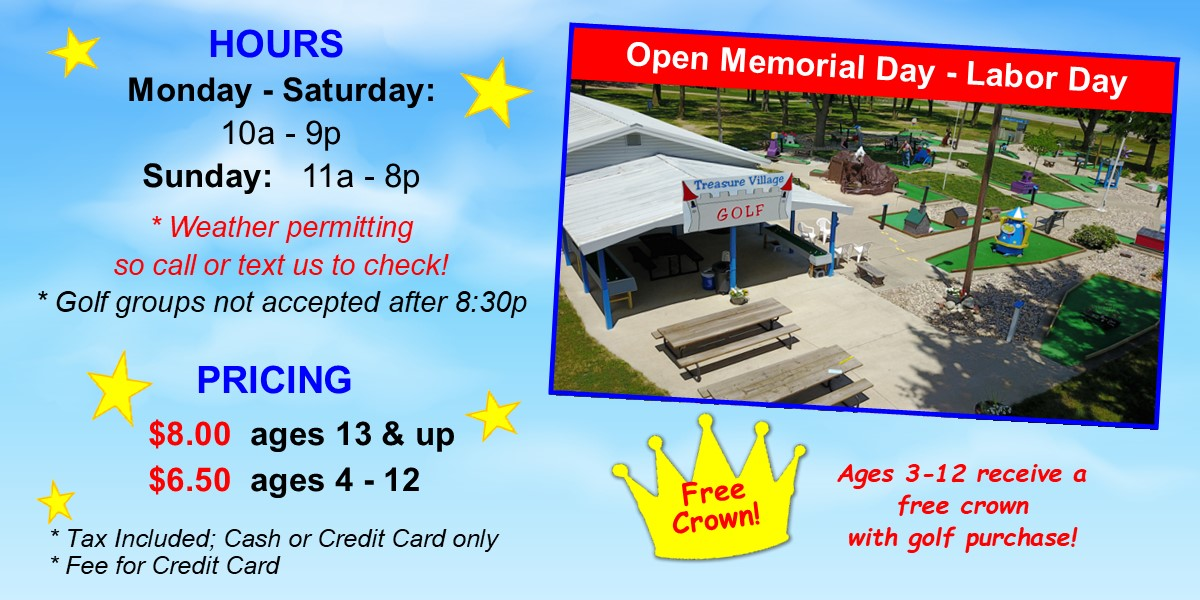 Mini Golf Hours & Pricing